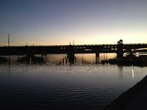 Sunrise at Tempe Town Lake